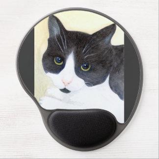 Schwarzweiss-Katze Gel Mousepad