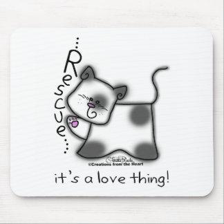 Schwarzweiss-Katze RETTUNG… ist es eine Mousepad