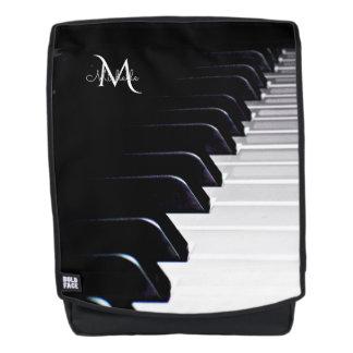 Schwarzweiss-Klavier-Tastatur-Musik Rucksack