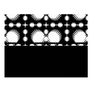 Schwarzweiss-Kräuselungen groß Postkarte