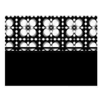 Schwarzweiss-Kräuselungen klein Postkarte