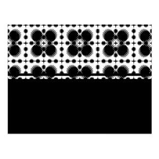Schwarzweiss-Kräuselungs-kleines umgewandelt Postkarte