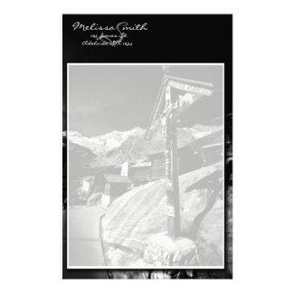 Schwarzweiss-Kruzifix-Szene Briefpapier