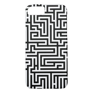 Schwarzweiss-Labyrinth iPhone 8/7 Hülle