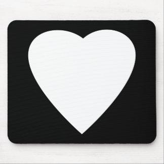 Schwarzweiss-Liebe-Herz-Entwurf Mousepad