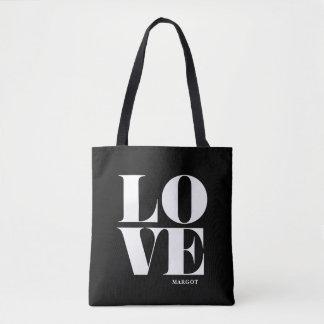 Schwarzweiss-Liebe-Typografie personalisiert