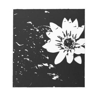 Schwarzweiss-Lotus-Notizblock Memo Notizblock
