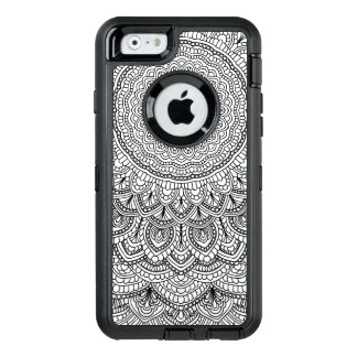 Schwarzweiss-Mandala OtterBox iPhone 6/6s Hülle