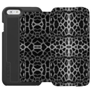 Schwarzweiss-Maschenmuster Incipio Watson™ iPhone 6 Geldbörsen Hülle
