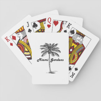 Schwarzweiss-Miamigarten- u. -palmenentwurf Pokerkarten