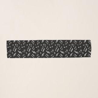 Schwarzweiss-Musiknoten-Muster Schal