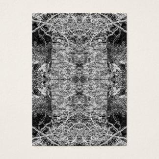 Schwarzweiss-Muster. Bäume und Stein Visitenkarte