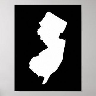 Schwarzweiss-New-Jersey Poster