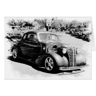 Schwarzweiss-Oldie - Vintages Auto Grußkarte