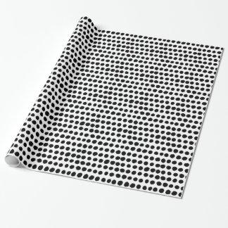 Schwarzweiss-Polka punktiert Geschenkpapierrolle