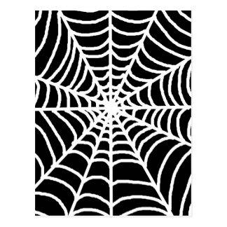 Schwarzweiss-Spinnennetz Postkarte