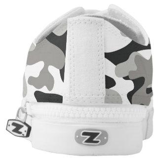 Schwarzweiss-Tarnungs-Schuhe Niedrig-geschnittene Sneaker