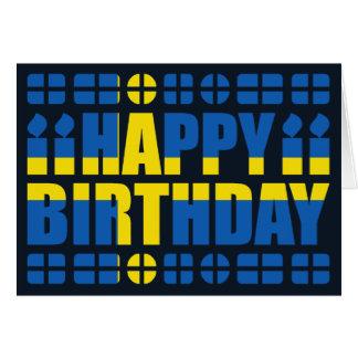 Schweden-Flaggen-Geburtstags-Karte Karte