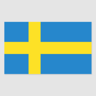 Schwedische Flagge Rechteckiger Aufkleber