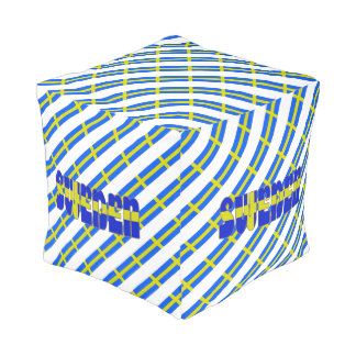 Schwedische Streifenflagge Hocker