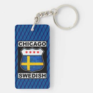Schwedischer amerikanischer Schlüsselring Chicagos