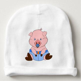 Schwein in einem Windel-BabyBeanie Babymütze