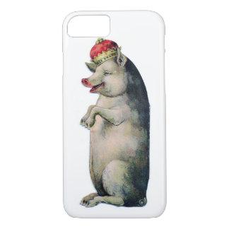 Schwein-König Vintage Pig iPhone 8/7 Hülle