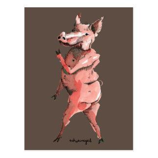 Schwein Postkarte