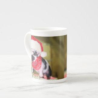 Schwein Weihnachtsmann - Weihnachtsschwein - Prozellantasse