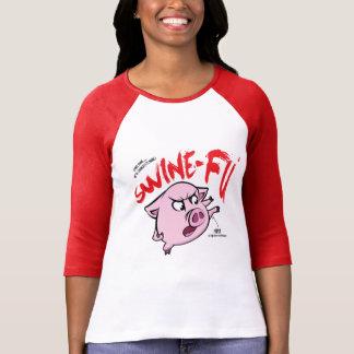Schweine Fu Spaß T-Shirt