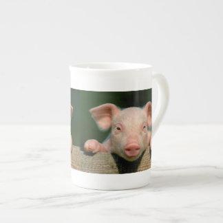 Schweinezuchtbetrieb - Schweingesicht Prozellantasse