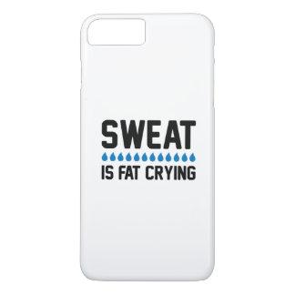 Schweiß ist fettes Schreien iPhone 8 Plus/7 Plus Hülle