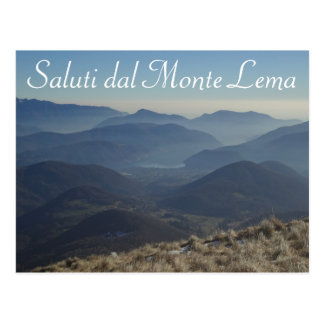 "Schweizer Postkarte ""Saluti Dals Monte Lema"" -"