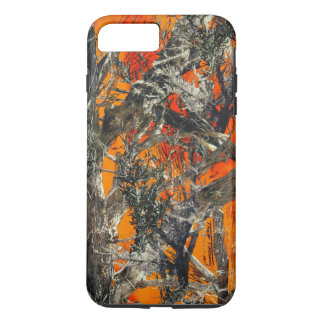 Schwere orange Camouflage iPhone 8 Plus/7 Plus Hülle