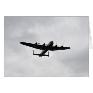 Schwerer Bomber Lancasters Grußkarte