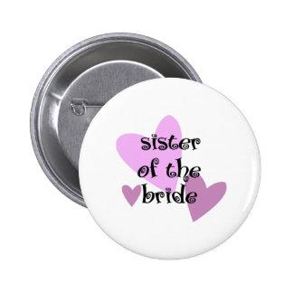 Schwester der Braut Runder Button 5,1 Cm