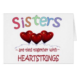 Schwester-Gefühlen Karte