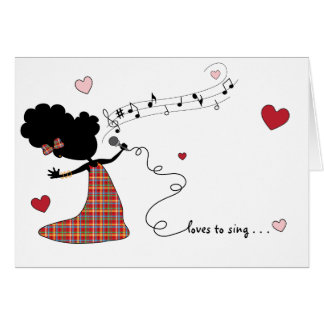 Schwester-Lieben zu singen… Karte