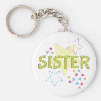 Schwester Standard Runder Schlüsselanhänger