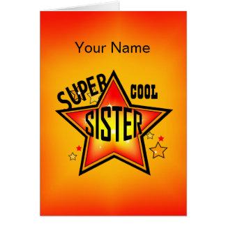 Schwester-super cooler Stern-Gruß Karte
