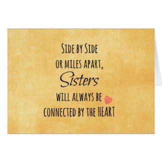 Schwester-Zitat Karte