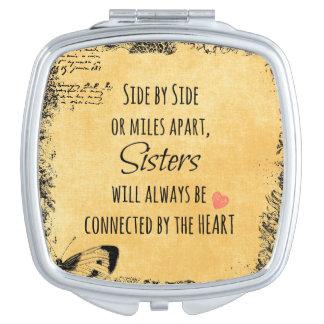 Schwester-Zitat Taschenspiegel
