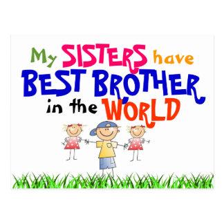 Schwestern haben beste Bruder-Postkarte Postkarte