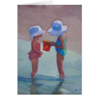 'Schwestern in Sun-Hüten Karte