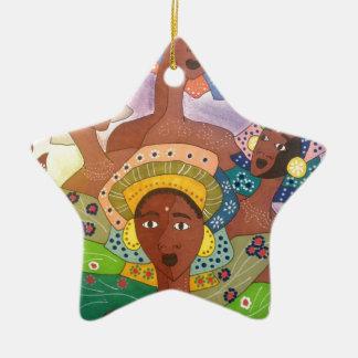Schwestern Keramik Ornament