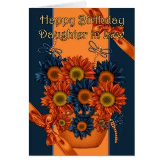 Schwiegertochter-Geburtstags-Karte - Sonnenblume Karte