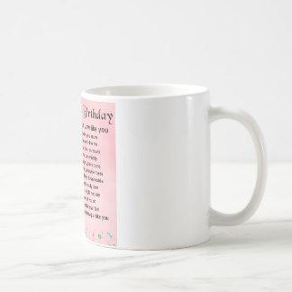 Schwiegertochter-Gedicht - 30. Geburtstag Kaffeetasse