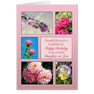 Schwiegertochter, schöne Blumengeburtstagskarte Grußkarte