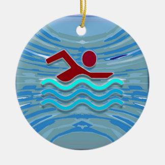 Schwimmen der keramik ornament