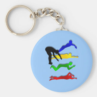 Schwimmen-Schwimmer-Wasser-Sport-Schwimmen Standard Runder Schlüsselanhänger